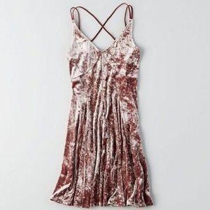 American Eagle Crushed Velvet Dress